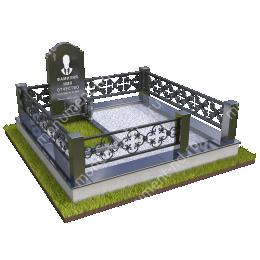 """Мемориальный комплекс Ц - 005 """"Под ключ"""" 200х180 см"""