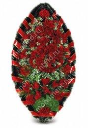 Венок стандартный -20 полимер,текстиль от 90 см