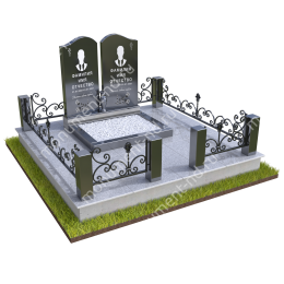 """Мемориальный комплекс Ц - 091 """"Под ключ"""" 200х180 см"""