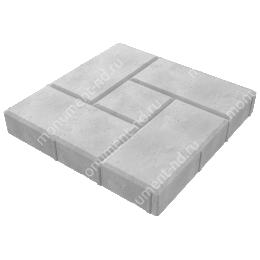 Тротуарная плитка на могилу ТП-05 цвет серый 1 кв.м.