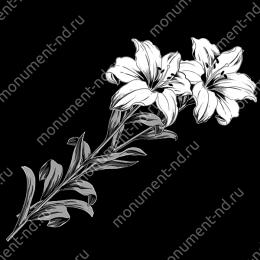 Гравировка цветы Цв-048 32 х12 / ≤ 40х60 см