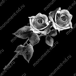 Гравировка цветы Цв-004 30х12 см