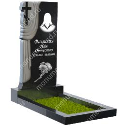 ПБ-9 Памятник с барельефом цвет черный 100*50*8