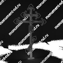 Крест на могилу Кр-010   крест металлический 200х70 см