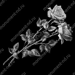 Гравировка цветы Цв-052 32 х12 / ≤ 40х60 см