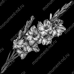 Гравировка цветы Цв-012 32 х12 / ≤ 40х60 см