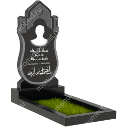 ПБ-93 Памятник с барельефом гранит габбро цвет черный 100*50*8