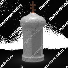 Лампада на могилу-005С гранит/металл/стекло цвет серый 35х15