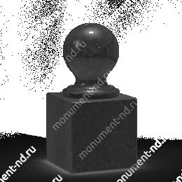 Шар из гранита Ш-013 гранит цвет чёрный/красный/серый от ø 10 см