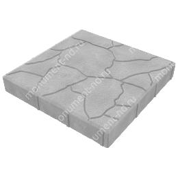 Тротуарная плитка на могилу ТП-04 цвет серый 1 кв.м.