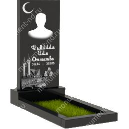 Мусульманский памятник М - 001 цвет черный 100*50*5