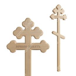 Деревянный крест на могилу ДкС - 005 сосна 210х70х5 см