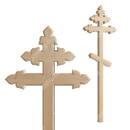 Деревянный крест на могилу ДкС - 014 сосна 210х90х5 см