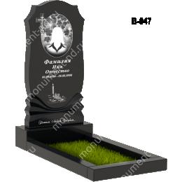 Вертикальный памятник В-047 гранит 100*50*5