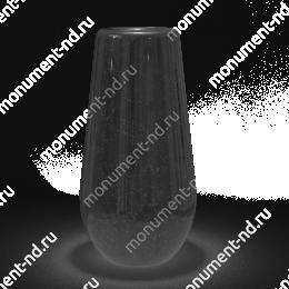 Ваза на могилу из гранита-013 гранит цвет черный 30х15 см