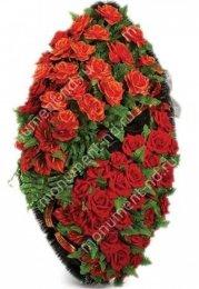 Венок элитный - 35 полимер,текстиль,проволока от 90 см