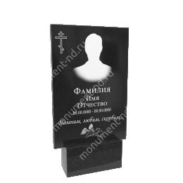 Гранитная табличка на могилу Т-005  Размер: 60х40х2 см.