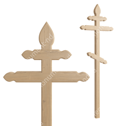 Деревянный крест на могилу ДкС - 012 сосна 210х90х5 см