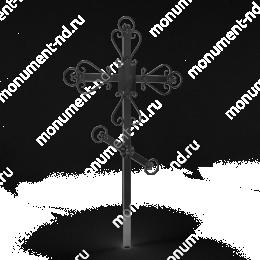 Крест на могилу Кр-015   металл 200х70 см