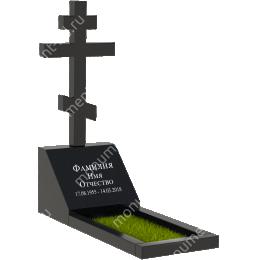 Памятник с крестом K-003 цвет черный 50*50*40