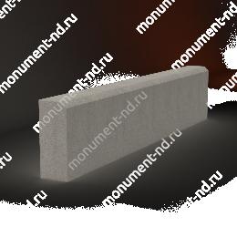 Бордюр на могилу Б-001 Размер:21х100х7 см цвет серый 200х180 см.