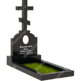 Памятник с крестом K-005 цвет черный 50*40*5