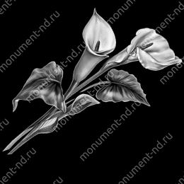 Гравировка цветы Цв-008 32 х12 / ≤ 40х60 см