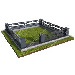 Гранитная ограда ГО-012 200х180 см.