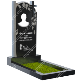 ПБ-8 Памятник с барельефом цвет черный 100*50*5