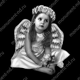 Гравировка ангела А-011 от 25х25 см