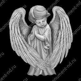 Гравировка ангела А-026 от 25х25 см