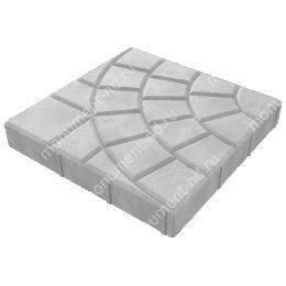 Тротуарная плитка на могилу ТП-06 цвет серый 1 кв.м.