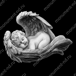 Гравировка ангела А-010 от 25х25 см
