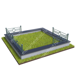 Гранитная ограда ГО-042 200х180 см.