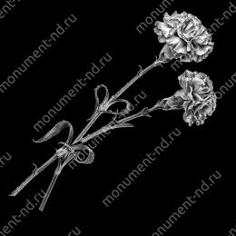 Гравировка цветы Цв-003 30х12 см