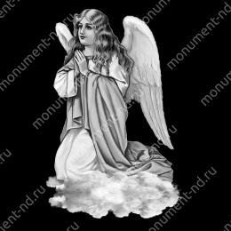 Гравировка ангела А-001 от 25х25 см