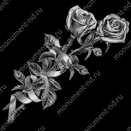 Гравировка цветы  Цв-005 32 х12 / ≤ 40х60 см