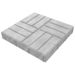 Тротуарная плитка на могилу ТП-01 цвет серый 1 кв.м.