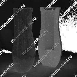 Полуваза на могилу из гранита-018 гранит цвет чёрный 20х9
