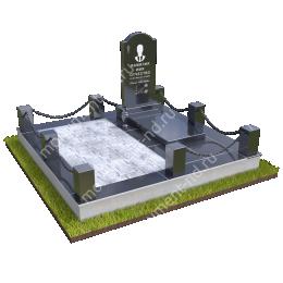 """Мемориальный комплекс Ц - 047 """"Под ключ"""" 200х180 см"""