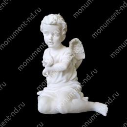 Ангел на памятник А-005    полимергранит цвет белый/бронза 43(45х30) см.