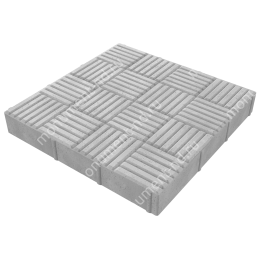 Тротуарная плитка на могилу ТП-08 цвет серый 1 кв.м.