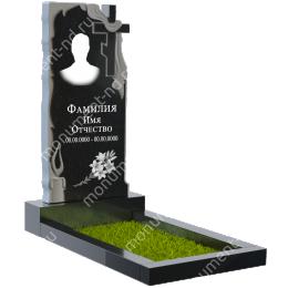 ПБ-10 Памятник с барельефом цвет черный 100*50*5
