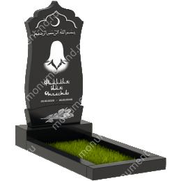 Мусульманский памятник М - 24 цвет черный 100*50*5