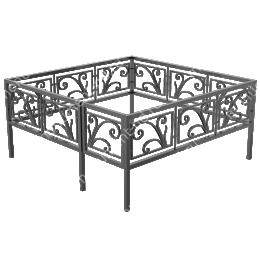 Ограда кованная ОК-7 200х180 см