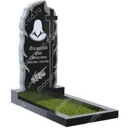 ПБ-1 Памятник с барельефом гранит цвет чёрный 100*50*5