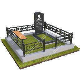 """Мемориальный комплекс Ц - 025 """"Под ключ"""" 200х180 см"""