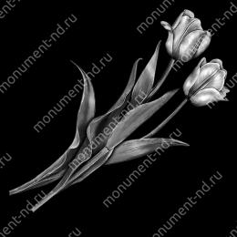 Гравировка цветы Цв-006 32 х12 / ≤ 40х60 см.