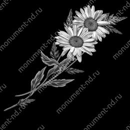 Гравировка цветы Цв-009 32 х12 / ≤ 40х60 см