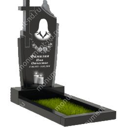 Памятник с крестом K-010 гранит габбро цвет черный 100*50*8